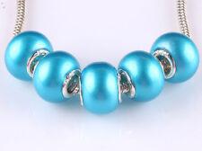 NEW 5pcs silver spacer beads fit Charm European Bracelet DIY B#647
