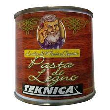 """Stucco per Legno """"Pasta di Legno"""" Mogano 250 ml Teknica"""