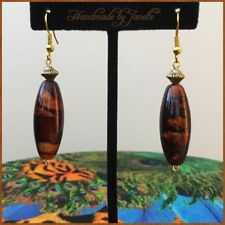 Hook Acrylic Gold Plated Handcrafted Earrings