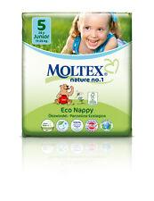 Paquete de 4er 104 St. Moltex nature no1, oso pañales de bebé junior talla 5 (11-25 kg) 4 x 26