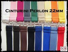 Cinturini Nato Perlon ardiglione acciaio 22mm. Perlon Nylon Straps.
