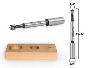 """1/4"""" Diameter Steel Forstner Drill Bit - 3/8"""" Shank - Yonico 43003S"""