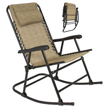Rocking Chairs For Adults Outdoor Folding Camping Beige Lightweight Chair Home