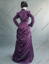 Victorian Riding Steampunk Bustle Dress Witch Women Halloween Costume N 139 XXL