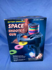 1980s Battery Operated Disc Shooter Space Gun New In Box Makes Sound