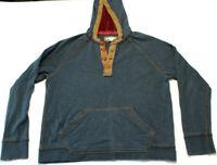 Carbon2cobalt mens hooded Henley Shirt Long Sleeve size medium