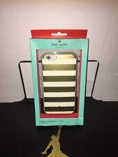 Kate Spade Designer iPhone 6/6s Hybrid Hardshell Case Gold Stripe *free Shipping