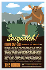 SASQUATCH MUSIC FESTIVAL 2012 CONCERT POSTER v.1-Foo Fighters,Modest Mouse,Wilco