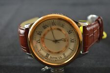 Invicta Russian Diver Silver-tone Dial Brown Leather Band Men's Watch 14079