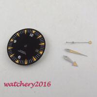 31mm black sandwich Sterile Watch Dial for eta 2824 2836 Movement (dial + hands)