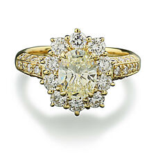 Diamant-Brillant-Ring zus. 2,52 carat Luxus 750-Gelbgold Wert 28000 €