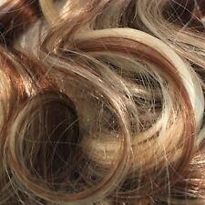 58.4cm à Clip une pièce ondulées Extension de cheveux marron moyen / mélange