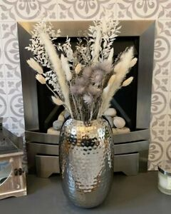Large Ceramic Vase Silver Tall 30cm Flower Floor Decoration Wedding Home Decor