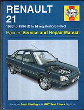 RENAULT 21 BENZINA 1986-1994 (c a m REG) Haynes assistenza / riparazione manuale 1997