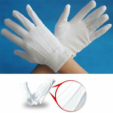 New Fancy Adult White Gloves Formal Tuxedo Guard Parade Santa Inspection Gloves