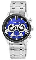 Elite Herrenuhr Blau Schwarz Chronograph Datum Analog Armbanduhr X2800063001