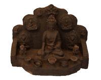 Estatua Buda Con Templo Tibetano Altar Pagode -47X36cm-9154