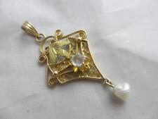 Pearl Yellow Gold Pendant/Locket Edwardian Fine Jewellery