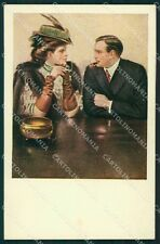 Clarence Underwood Lady MM Vienne 387 postcard cartolina QT6837