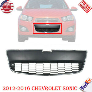 Front Bumper Lower Grille Chrome For 2012-2016 Chevrolet Sonic