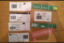 adidas box labels  new/vintage  Koln Dublin Berlin