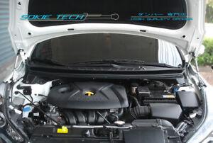 Black Strut Lift Hood Shock Damper Kit for 11-15 Hyundai Elantra Avante MD UD