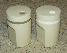 "Tupperware Twist Top Salt and Pepper Shakers - 3.5"" Tall - Tan"