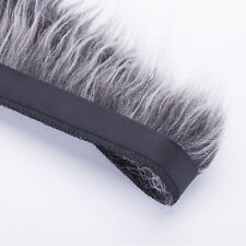 Neotrims Fake Faux Two-Tone Fur Woolly Fringe Trimming Satin Ribbon; By the Yard