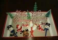 Selection Of Christmas Cake Decorations