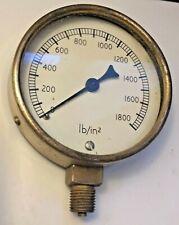 VINTAGE BRASS AIRPORT PRESSURE GAUGE - Steampunk Meter Old 10cm x 8cm x 3cm