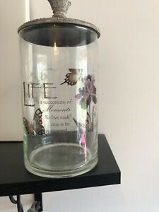 Lidded Decorative Jar With Quote