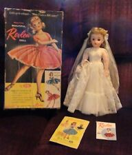 VTG Revlon Bride Doll By Ideal With Original Box Dress Hand Tag-Bk New Pictures