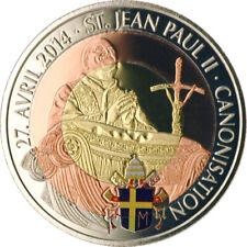 100 Francs Kamerun 2014 Heiligsprechung JP II. Trimetall