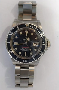 RARE VINTAGE ROLEX RED SUBMARINER 1680 2.6M SERIAL 1971 AUTOMATIC WATCH