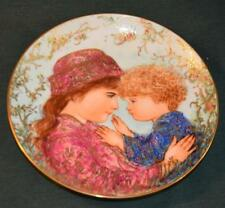 Knowles/Edna Hibel Lt Ed Plate - Sarah and Tess - 1988 Mother's Day