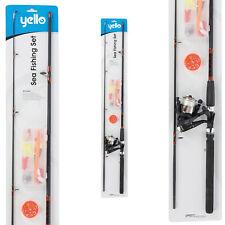 Yello 8' Sea Fishing Rod Set Reel Accessories Hooks Floats Lures Swivels Tackle