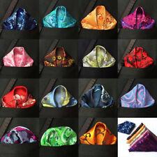 Lot 15 Packs Hot Men's Handkerchief Pocket Square Floral Silk Hanky Chest Tower