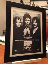 "FRAMED ORIGINAL PAUL McCARTNEY & WINGS ""LONDON TOWN"" LP ALBUM CD PROMO AD"