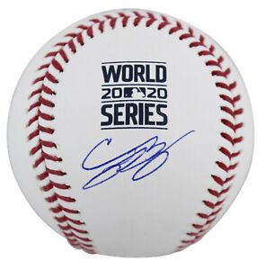Dodgers Cody Bellinger Signed 2020 World Series Logo Oml Baseball MLB & Fanatics