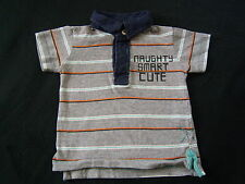 Zara Baby • Jungenshirt Polo-Shirt kurzarm grau • 3 - 6 M. • Gr. 62 - 68