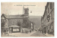01  BELLEGARDE  EGLISE ET RUE DE LA REPUBLIQUE