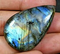 62.0 Ct 100% Natural Fire Labradorite AGSL Certified Pear Cut Untreated Gemstone