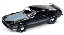 1/64 JOHNNY LIGHTNING CLASSIC GOLD 1973 Ford Mustang Mach 1 in Gloss Black