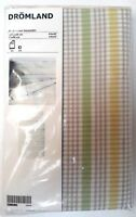 Ikea Dromland Green Yellow Gingham Checked Cotton Single Bed Sheet Pillow Set