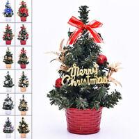 20cm Mini Sisal Christmas Trees Ornament Miniature Snow Frost Xmas Tree Decor
