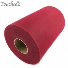 """6"""" 100 Yards Tutu Tulle Roll Spool Fabric Wedding Party Decor Chair Bows Sashes"""