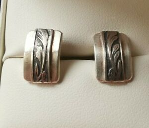 Sterling Silver? Pretty Design Earrings (Selling Matching Necklace)