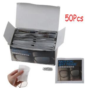 50X  Anti-Fog Disposable Defogger Eyeglass Wipes Pre-moistened Antifog Lens Wipe