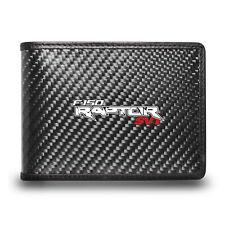 Ford F-150 Raptor SVT Black Real Carbon Fiber Leather RFID Block Bi-fold Wallet