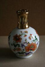 Lampe berger en porcelaine de Limoges décor floral Tharaud